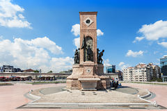 Monument, Taksim Square. ISTANBUL, TURKEY - SEPTEMBER 09, 2014: Monument at Taksim Square on September 09, 2014 in Istanbul, Turkey Royalty Free Stock Photo