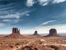 Monument-Tal-Navajo-Nationaldenkmal in Utah Arizona, Stockbilder