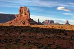 Monument-Tal, Wüstenschlucht in USA Lizenzfreies Stockfoto