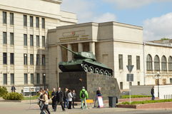 Monument tank. In Minsk, Belarus Stock Photo