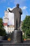 Monument of Taras Shevchenko in Lviv Stock Images