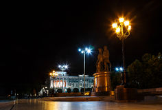 Monument Tatishchev  and de Genin night Stock Photos