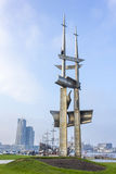 Monument Three masts in Gdynia, Poland Royalty Free Stock Photography