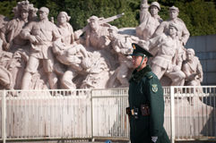 Monument at Tiananmen Square Stock Images