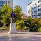 Monument till ärkebiskopen Damaskinos Arkivbilder