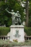 """Monument till Albert Thys i Parc du Cinquantenaire †""""Jubelpark bryska _ Royaltyfria Bilder"""