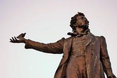 Monument till Aleksander Pushkin i St Petersburg Royaltyfri Foto