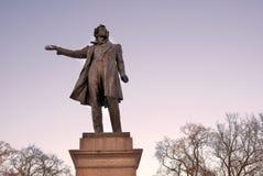 Monument till Aleksander Pushkin i St Petersburg Royaltyfria Foton
