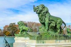 Monument till Alfonso XII, Madrid arkivfoto