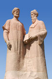 Monument till Alisher Navoi och Jami Abdurakhman Royaltyfri Bild