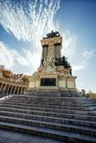 Monument till Alonso XII i Madrid, Spanien Fotografering för Bildbyråer
