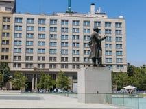 Monument till Arturo Alessandri Palma i Santiago de Chile, in för Royaltyfria Bilder