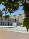Monument till Arturo Alessandri Palma i Santiago de Chile, in för Arkivfoto