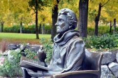 Monument till Astrid Lindgren i Stockholm royaltyfri bild