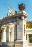Monument till Benito Juà ¡ rez i Mexico - stad fotografering för bildbyråer