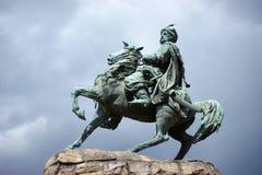 Monument till Bogdan Khmelnitsky Arkivbild