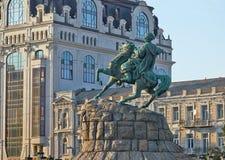 Monument till Bogdan Khmelnitsky av Kiev Royaltyfri Foto