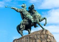 Monument till Bogdan Khmelnitsky i Kiev Arkivbild