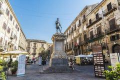 Monument till Carlo V i Palermo i Sicilien, Italien Arkivfoto