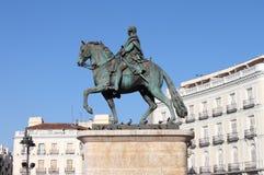 Monument till Charles III i Madrid fotografering för bildbyråer