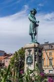 Monument till Charles XI i Karlskrona Fotografering för Bildbyråer
