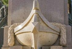 Monument till Christopher Columbus i Rapallo, Italien Arkivfoto