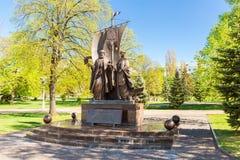 Monument till de ortodoxa helgonen Peter och Fevronia för ryss av Mu Royaltyfria Foton