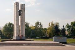 Monument till de stupade soldaterna Fotografering för Bildbyråer