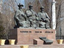 Monument till de tre stora domarna i Astana Royaltyfria Bilder