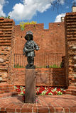 Monument till den lilla revoltören i Warszawa, Polen Arkivbilder