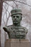 Monument till den nationella hjälten Hadzhi Dimitar som placeras i den bulgarian staden Burgas i havsträdgården Royaltyfri Foto