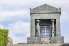 Monument till den okända hjälten Serbien Turist soldat arkivfoto
