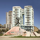 Monument till den okända soldaten i Durres albacoren royaltyfria foton