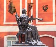 Monument till den ryska kejsarinnan Catherine The Great Arkivbilder