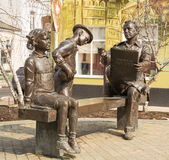 Monument till den ryska konstnären Nikolai Zhukov Royaltyfri Bild