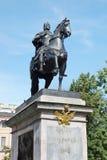 Monument till den ryska tsar Peter det stort, St Petersburg Arkivfoto