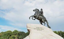 Monument till den ryska tsar Peter det stort, St Petersburg Royaltyfri Foto