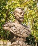 Monument till den sista ryska kejsaren Nikolai Romanov Arkivbilder