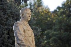 Monument till den sovjetiska ledaren Josef Stalin i hans hemstad Gori i Georgia arkivfoto