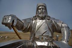 Monument till den stora Genghisen Khan fotografering för bildbyråer