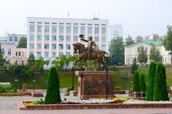 Monument till den storslagna hertigen av Litauen Olgerd, Vitebsk, Vitryssland Arkivbild