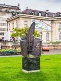 Monument till den ukrainska författaren Nikolai Gogol Royaltyfri Fotografi