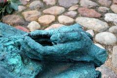Monument till det stupat och mördat i den östliga Warszawa Royaltyfri Fotografi