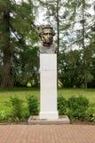 Monument till det vita tornet på territoriet av den Pushkin musan Fotografering för Bildbyråer