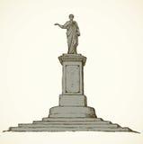 Monument till Duke de Richelieu odessa ukraine Vektorn skissar stock illustrationer