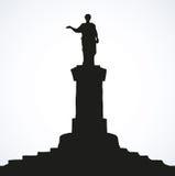 Monument till Duke de Richelieu odessa ukraine Vektorn skissar vektor illustrationer