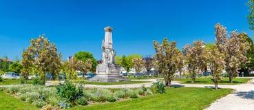 Monument till Edouard Martell i Cognac, Frankrike arkivbild