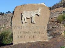 Monument till en åsna Royaltyfria Bilder