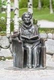 Monument till författaren Astrid Lindgren royaltyfria foton