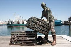 Monument till fiskarna - Fremantle - Australien royaltyfri bild